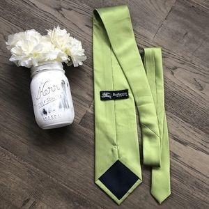 🔥 Burberry🔥 | Men's green 100% silk tie